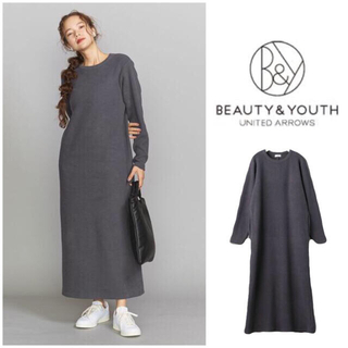 BEAUTY&YOUTH UNITED ARROWS - 新品タグ付50%OFF▼BY コーデュロイライクマキシカットソーワンピース