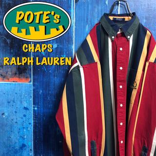 Ralph Lauren - 【チャップスラルフローレン】ポケット刺繍ロゴボールドマルチストライプシャツ