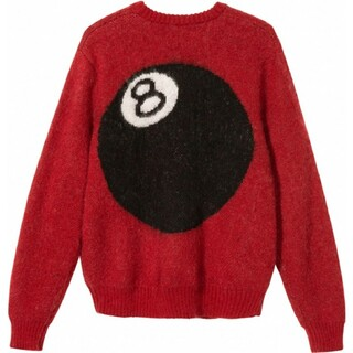 STUSSY - Stussy 8 BALL SWEATER knit ニット M