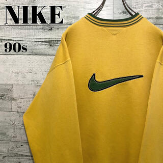 NIKE - 【激レア】ナイキ NIKE☆銀タグ 刺繍ビッグロゴ スウェット 90s