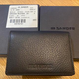 Jil Sander - 【JIL SANDER】革カードケース、名刺入れ