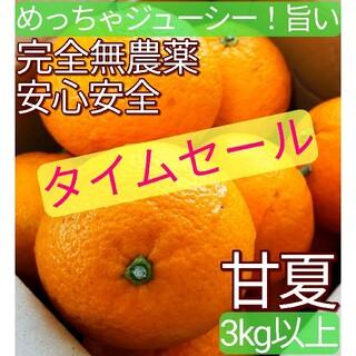 【農園直送】  完全無農薬 ノーワックス めちゃ旨 ジューシー 甘酸っぱい 甘夏(フルーツ)