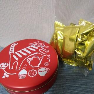 アフタヌーンティー(AfternoonTea)のアフタヌーンティー トラネコボンボン空き缶 & パフチョコレート(小物入れ)