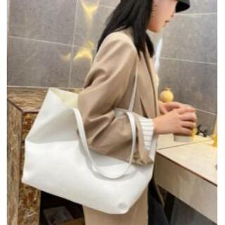 白 ホワイト トートバッグ ショルダーバッグ レディース シンプル 鞄 レザー (トートバッグ)