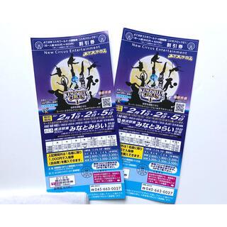 サーカス(circus)の木下大サーカス 横浜みなとみらい公演 招待券 2枚セット ペアチケット(サーカス)