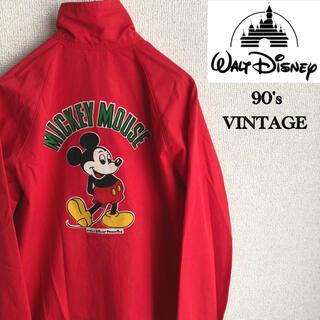 ディズニー(Disney)の90s poppins Mickey Mouse プリント スイングトップ 古着(ブルゾン)