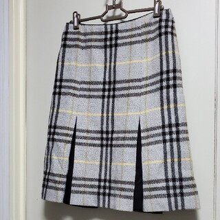 BURBERRY - 【超美品★バーバリーロンドン】ウール100%スカート