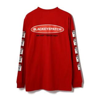 エルエイチピー(LHP)のブラックアイパッチ ロンT 赤(Tシャツ/カットソー(七分/長袖))