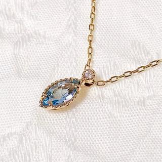 アガット(agete)のちょこぱい様専用★agete K10 アクアマリン ダイヤモンド ネックレス(ネックレス)