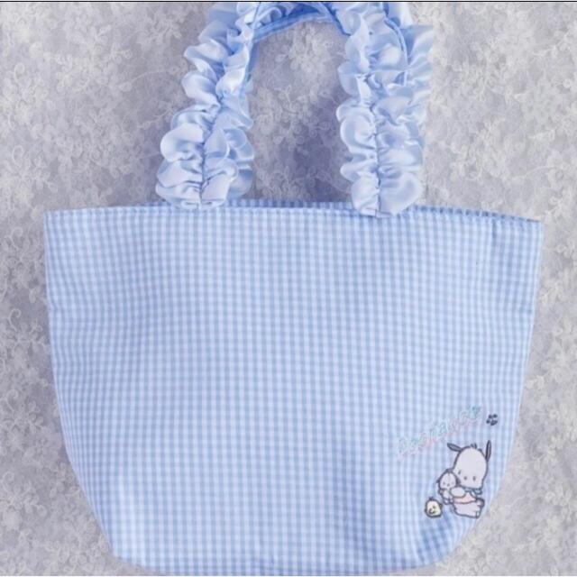 Maison de FLEUR(メゾンドフルール)の新品タグ付♡メゾンドフルール ポチャッコ フリルハンドルトートバッグ レディースのバッグ(トートバッグ)の商品写真