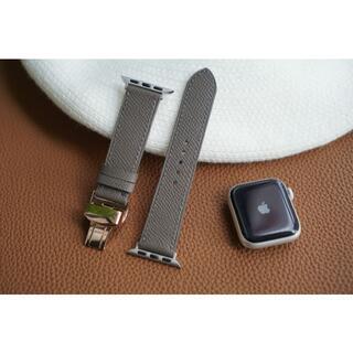 高級革使用Apple Watchベルト 時計ベルト グレー色 レザー コペンハー