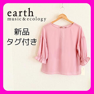 earth music & ecology - ◆新品タグ付き◆アースミュージック&エコロジー◆ピンク◆スリーリボンブラウス
