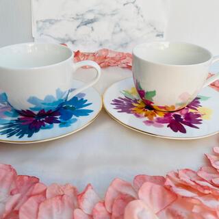 Francfranc - 新品 フランフラン レーヴ コーヒー カップ  プレート ピンク、ブルー、