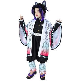 鬼滅の刃 胡蝶しのぶ子供用 110-140(衣装一式)