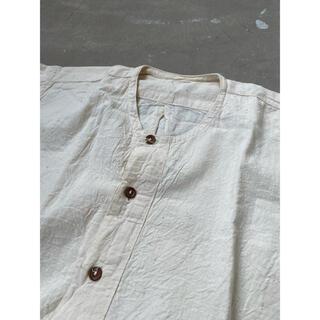 FRANK LEDER - ビンテージ ブルガリア軍 スリーピングシャツ ヘンリーネックシャツ