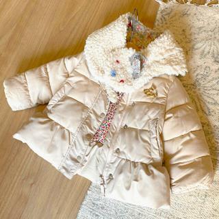 ZARA KIDS - アウター 女の子 ジャンパー リバティ柄 マフラー 冬服 花柄 コート 上着