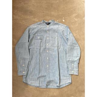 POLO RALPH LAUREN - 90's ラルフローレン ワークシャツ バンドカラーシャツ