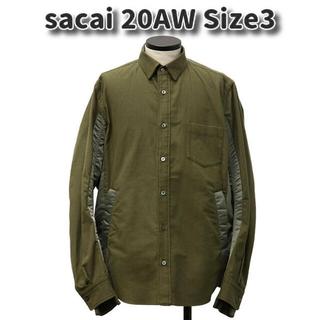 sacai - sacai 20AW ミリタリー シャツ MA-1 カーキ 長袖