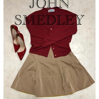 ジョンスメドレー(JOHN SMEDLEY)のジョンスメドレー カーディガン ボルドー(カーディガン)