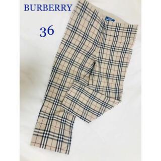 バーバリーブルーレーベル(BURBERRY BLUE LABEL)のBURBERRY BLUE LABEL ノバチェックパンツ 36(クロップドパンツ)