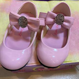 ディズニー(Disney)の美品 ビビディバビディブティック 靴 17センチピンク フォーマルシューズ 女子(フォーマルシューズ)