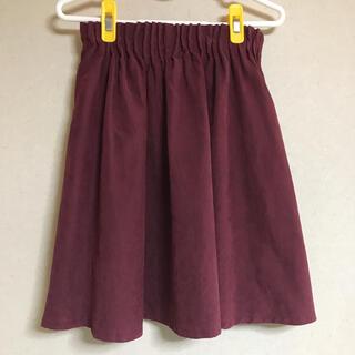 レトロガール(RETRO GIRL)の膝丈スカート イベント レトロガール スカート 赤 レッド ボルドー フレア(ひざ丈スカート)