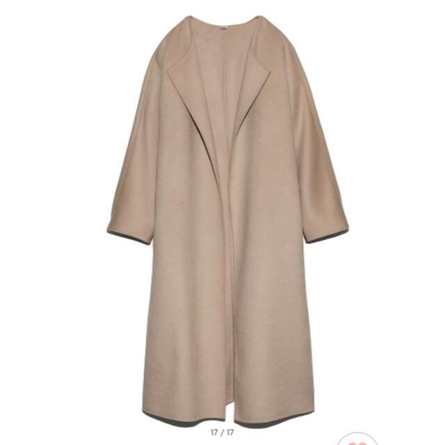 Mila Owen(ミラオーウェン)のmila owen接結ガウンロングコート レディースのジャケット/アウター(ロングコート)の商品写真