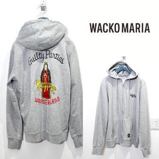 WACKO MARIA - WACKO MARIA ワコマリア ジップパーカー フーディー グレー Mサイズ