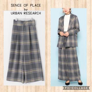 URBAN RESEARCH - チェック ワイドパンツ