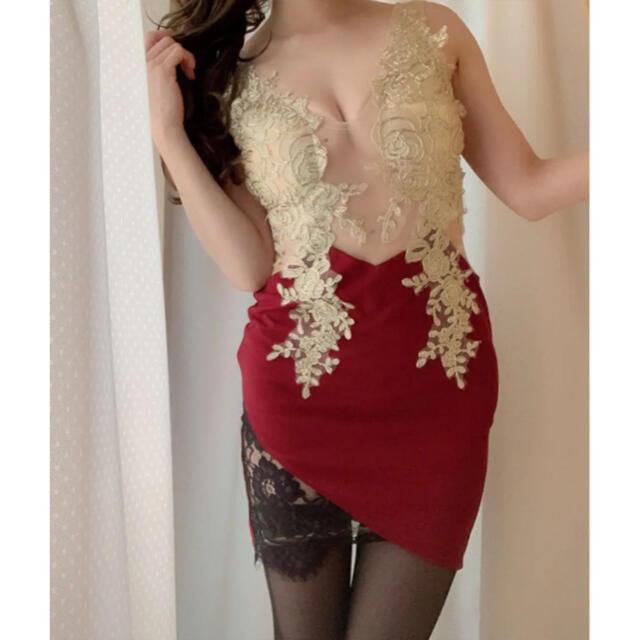 JEWELS(ジュエルズ)の極限シースルー/ゴールド刺繍ドレスwrd レディースのフォーマル/ドレス(ナイトドレス)の商品写真