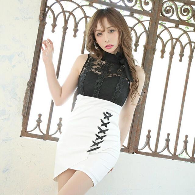 JEWELS(ジュエルズ)のラスト1点*特別セール品*ケミカルレーストップ/スピンドルスカートドレス レディースのフォーマル/ドレス(ミニドレス)の商品写真