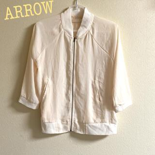 アロー(ARROW)のARROW アロー ブルゾンタイプ 七分袖 カットソー(ブルゾン)