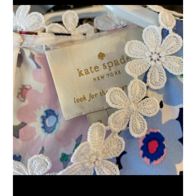 kate spade new york(ケイトスペードニューヨーク)のケイトスペード 花柄 ワンピース サイズ2 レディースのワンピース(ひざ丈ワンピース)の商品写真