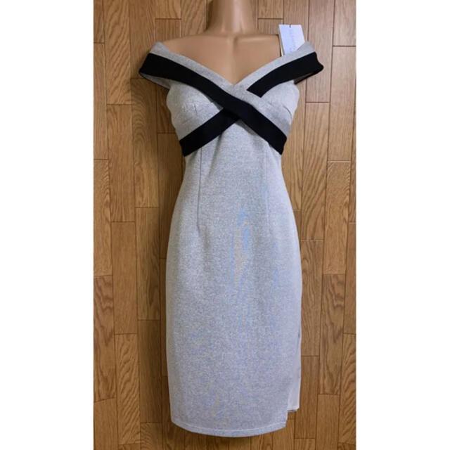 Andy(アンディ)のV492*クロスデザイン/ディープスリット/ミディ丈ワンピース レディースのフォーマル/ドレス(ナイトドレス)の商品写真