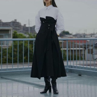 Ameri VINTAGE - Mサイズ ブラック Ameri MILLEFEUILLE SHIRT DRESS