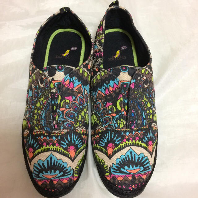 Roxy(ロキシー)の新品USA購入☆Sakrootsスリッポン靴サンダルサックルーツ7(23cm) レディースの靴/シューズ(スニーカー)の商品写真