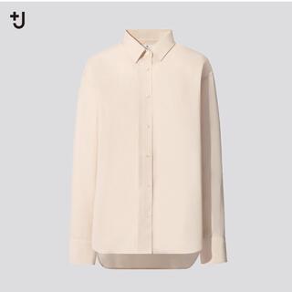 ユニクロ(UNIQLO)の【未使用】ユニクロ +J スーピマコットンオーバーサイズシャツ Mサイズ(シャツ/ブラウス(長袖/七分))