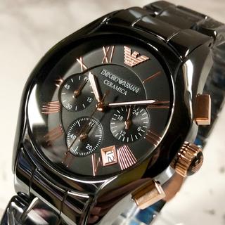 エンポリオアルマーニ(Emporio Armani)の【新品】アルマーニ ARMANI メンズ 腕時計 クロノグラフ ブラック(腕時計(アナログ))