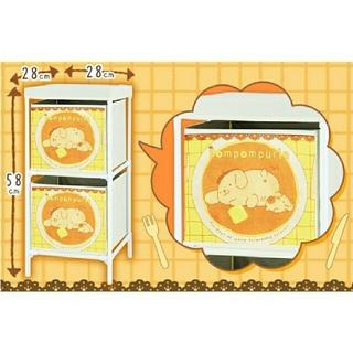 サンリオ(サンリオ)の【トレバ限定】サンリオキャラクターズ 2段式収納ボックス ポムポムプリン(棚/ラック/タンス)