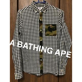 A BATHING APE - A BATHING APE チェック カモ柄 シャツ