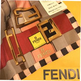 FENDI - 未使用 フェンディ ハンカチスカーフ 大判 basic channel
