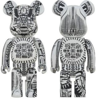 メディコムトイ(MEDICOM TOY)のBE@RBRICK H.R.GIGER  WHITE CHROME 1000%(フィギュア)