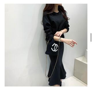 dholic - ミナグラム ツーピース セットアップ  スウェット トレーナーマーメイドスカート