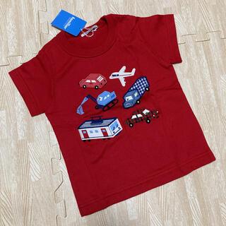 familiar - 新品☆ファミリア 半袖 Tシャツ レッド 乗り物 100