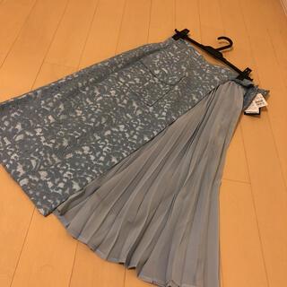 SCOT CLUB - スコットクラブ ロングスカート  プリーツ 切替 花柄 スカート