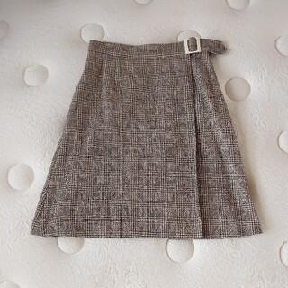 【anatelier アナトリエ 】*新品タグ付* ツイードチェック スカート