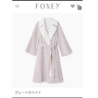 FOXEY - フォクシー 今期完売‼︎ リバーシブルコートLONDONDAY グレー×白