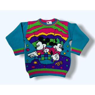 Disney - vintage disney ミッキー ミニー ニット セーター