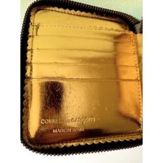 コムデギャルソン(COMME des GARCONS)のCOMME des GARCONS 二つ折り財布ウォレット 黒×金(折り財布)