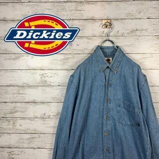 ディッキーズ(Dickies)の【人気】ディッキーズ デニムシャツ ワッペンロゴ 胸ポケット デニム(シャツ)